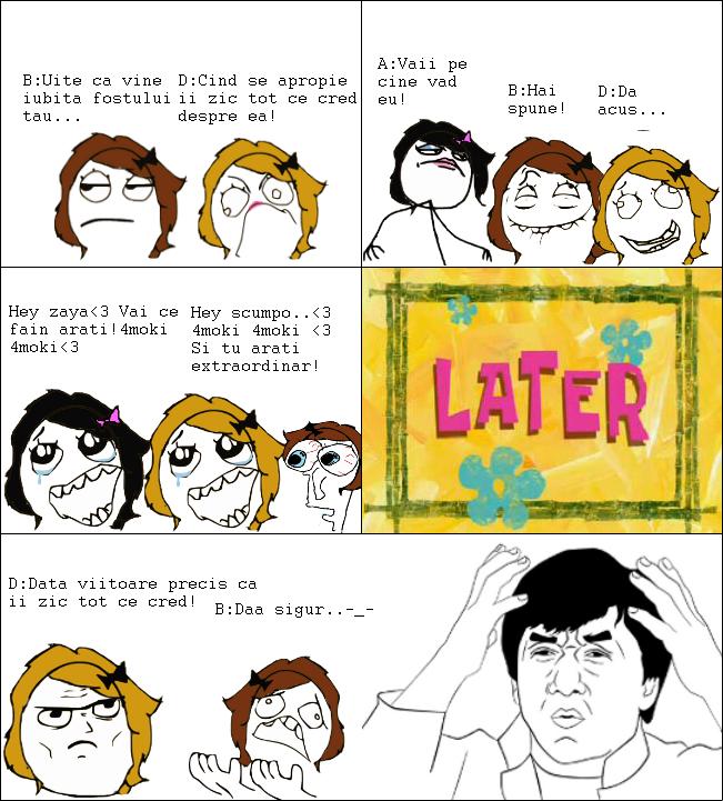 Cum se comporta fetele )