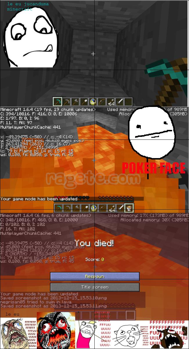 Like daca ti sa  intamplat asta odata in MineCraft