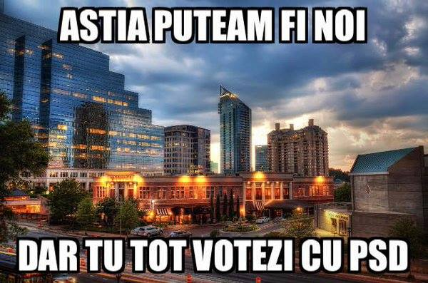 dar tu votezi cu psd